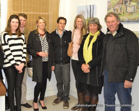 From left: Alison Lockyer, Michael Lockyer, Louise Cvetkovic Jake Turner, Suzanne Lockyer, Linda Lockyer, Peter Lockyer
